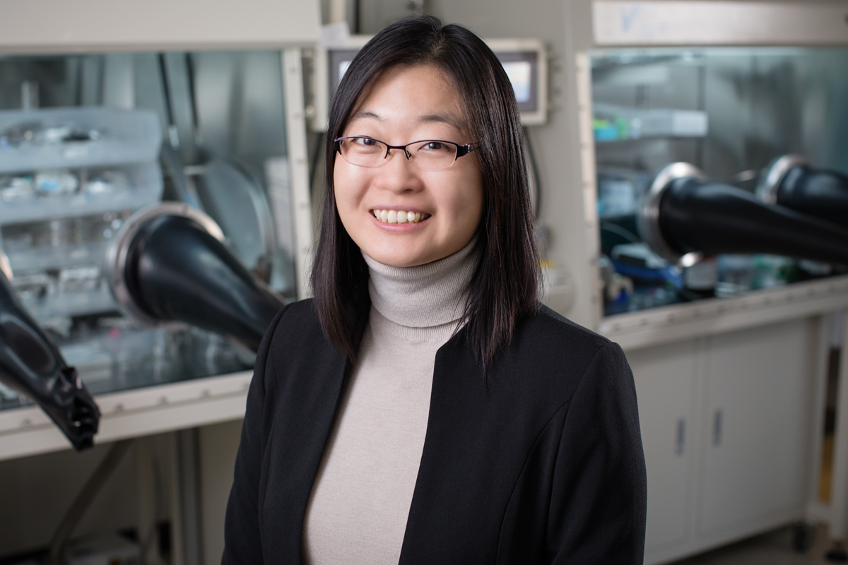 Professor Ying Diao in a lab